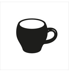 Cup icon in simple monochrome style vector