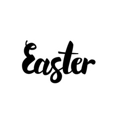 easter handwritten calligraphy vector image