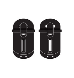 electric kettle icon flat sign vector image