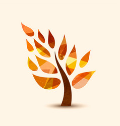 fall tree symbol concept design for nature help vector image