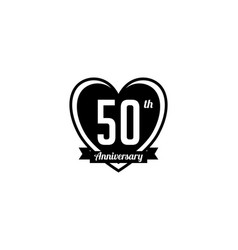Fifty year anniversary badge vector