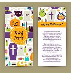 Flyer Template of Flat Design Happy Halloween vector