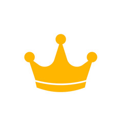 gold crown icon flat style vector image
