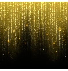 Golden starry rain vector image