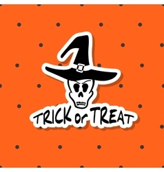 Halloween Sticker Trick Or Treat vector image
