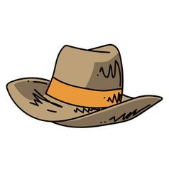 hat cartoon hand drawn image vector image vector image