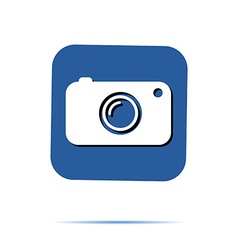Hipster camera photo instagram digital label vector