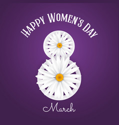 international womens day background with daisies vector image