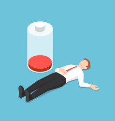 isometric businessman fainting on floor with vector image