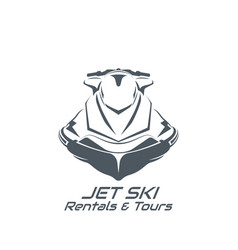 Jet ski scooter vector