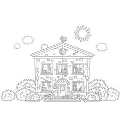 kindergarten with toys vector image