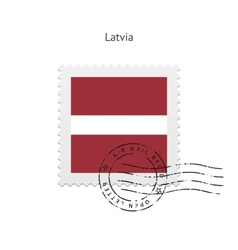 Latvia Flag Postage Stamp vector