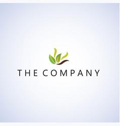 Leaf logo ideas design on bac vector