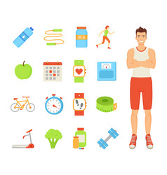 man healthy lifestyle of male vector image