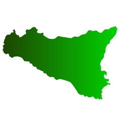 map sicily vector image