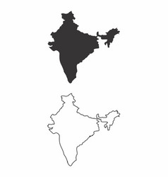 Maps of india vector