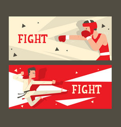 martial arts fight club banner vector image