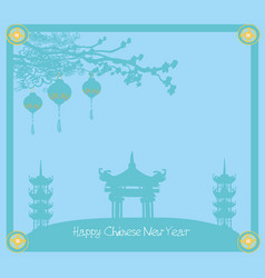 mid-autumn festival for chinese new year - card vector image