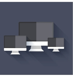 modern flat technology background Eps 10 vector image