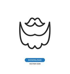 Mustache and beard icon vector