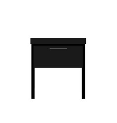 Nightstand bedside table table with drawer a vector
