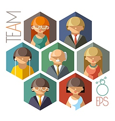 Office Team vector