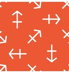 Orange Sagittarius pattern vector image