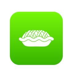 pie icon digital green vector image