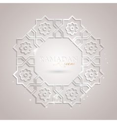 Ramadan Kareem greeting template vector