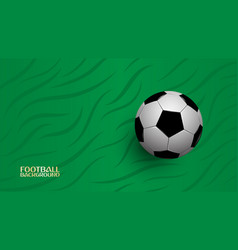 realistic football on green background football vector image