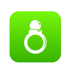 ring icon green vector image