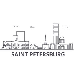 sankt petersburg architecture line skyline vector image