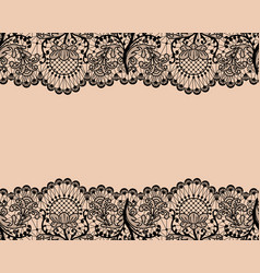 seamless black lace vector image