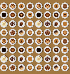 seamless pattern background coffee chocolate cocoa vector image