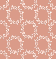 Seamless pattern wreath of roses vector image