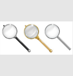 set of different enlargers vector image