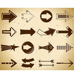Set of vintage arrows vector