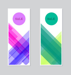 set sale banners design vector image