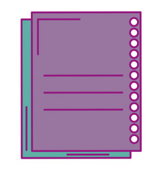 sheet of notebook icon vector image
