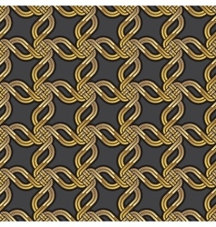 Shiny gold Celtic seamless pattern vector image