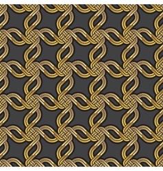 Shiny gold Celtic seamless pattern vector