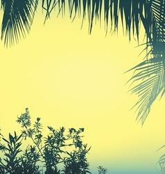 Silhouette plam plant vector