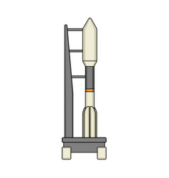 Space launch vehicle at launch space technology vector