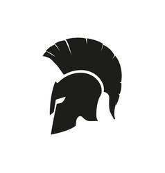 Sparta helmet mask isolated icon design logo in vector
