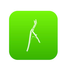 Surgical pincers icon green vector