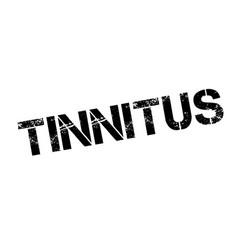 Tinnitus rubber stamp vector