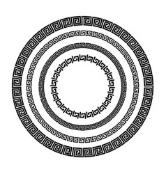 traditional simple meander vector image