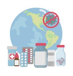 usa stop pandemia coronavirus medical protection v vector image