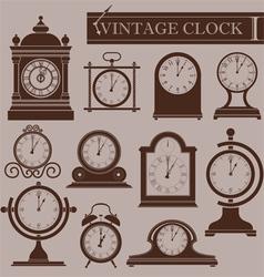 Vintage clock I vector image