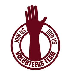 Volunteer design vector image